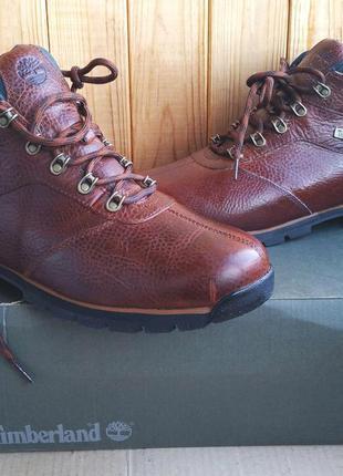 Стильные кожаные утеплённые ботинки timberland оригинал в коробке