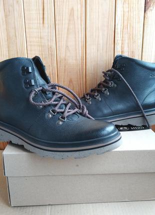 Стильные утеплённые новые кожаные ботинки clarks оригинал в ко...