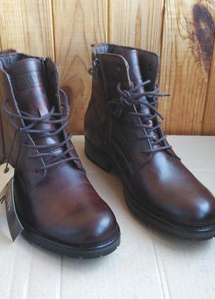 Стильные кожаные новые демисезонные ботинки  jack & jones