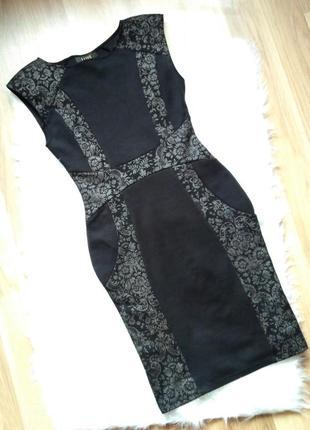 Шикарное нарядное платье с серебристым узором dorothy perkins....