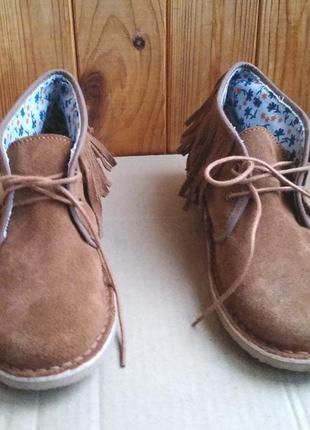 Стильные замшевые мокасины united colors of beneton ботинки