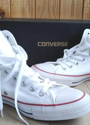Стильные новые высокие белые кеды converse оригинал в коробке
