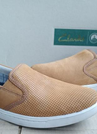 Стильные удобные кожаные новые слипоны clarks мокасины оригина...