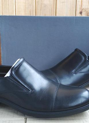 Стильные кожаные удобные новые туфли ecco  мокасины оригинал в...