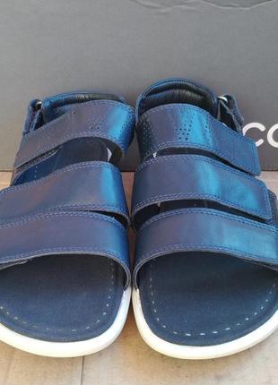 Новые удобные кожаные сандалии босоножки шлепанцы ecco оригина...