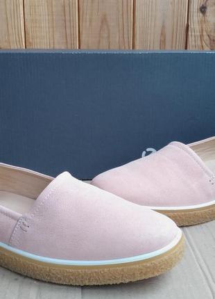 Стильные новые кожаные мокасины слипоны ecco туфли оригинал в ...