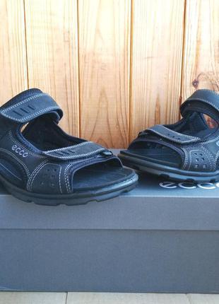Комфортные кожаные новые сандалии ecco босоножки шлепанцы ориг...
