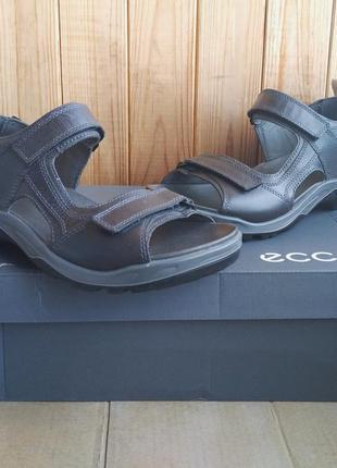 Супер стильные полностью кожаные сандалии ecco босоножки шлепа...
