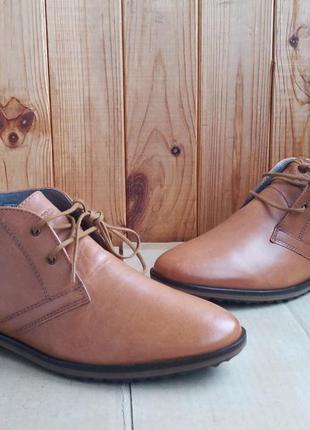 Стильные полностью кожаные элегантные новые ботинки no brand п...