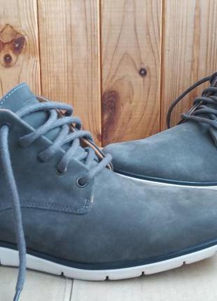 Стильные кожаные удобные утеплённые ботинки sсhmoove португалия