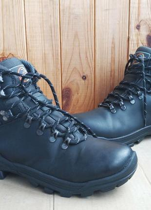 Стильные трекинговые кожаные легкие термо-ботинки jacalu на ме...