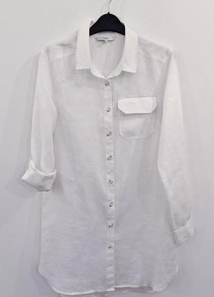 Платье-рубашка льняная next