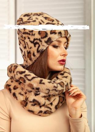 Шикарнейший меховий шарф-снуд-хомут-капюшон,amisu
