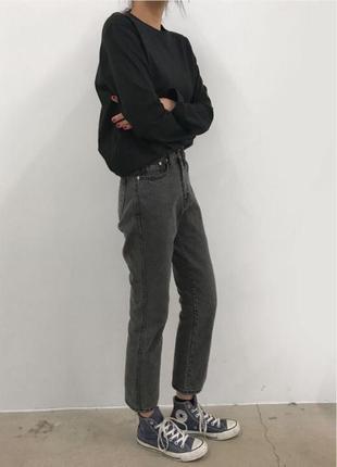 Актуальные прямые джинсы бойфренды плотный джинс h&m