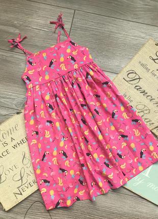 Платье сарафан с туканами matalan 3-4г
