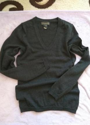 Шерстяной свитер 100%шерсть мериноса
