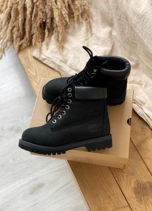 Мужские ботинки timberland 6 inch premium black, тимберленд де...