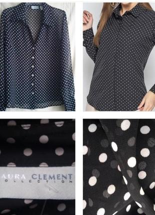 Романтичная блуза в трендовый горошек от французского интернет...