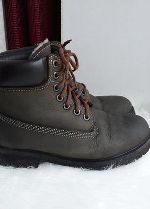 Теплые зимние качественные непромокаемые ботинки из нубука. ра...