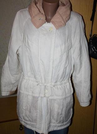 Белая жатая курточка винтаж, м