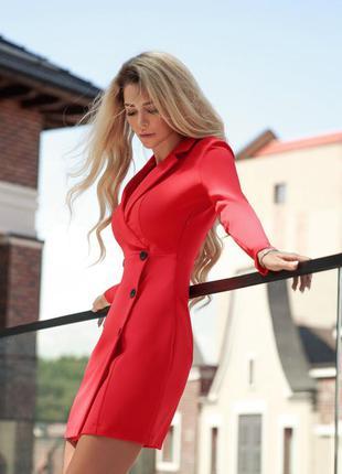 Платье-пиджак сицилийский апельсин🔥