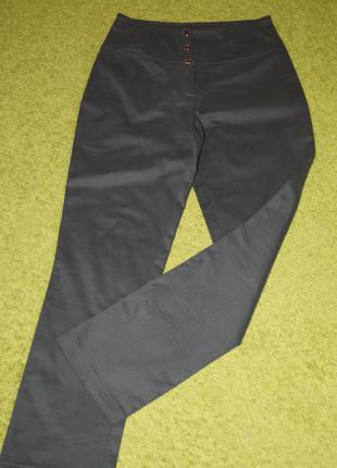 Котоновые брюки с завышенной талией