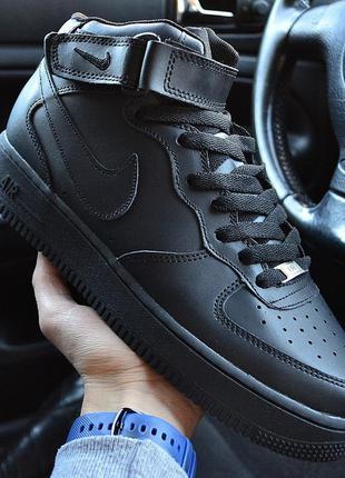 ⭕акция⭕nike air force high black winter, мужские кроссовки най...