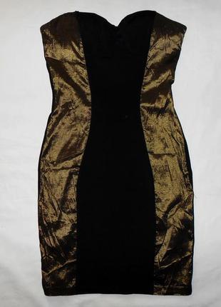Маленькое черное эластичное платье без бретелей oneness