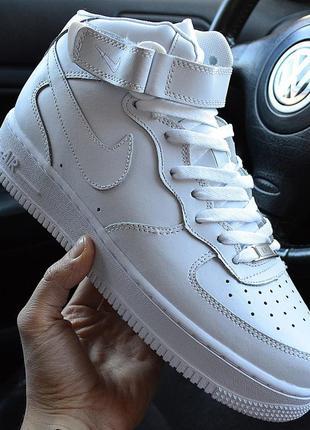 ⭕акция⭕nike air force high white, кроссовки мужские найк высок...