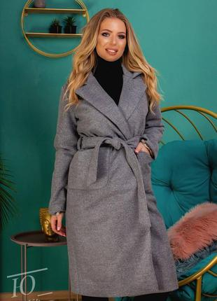 Пальто кашемировое батал женское