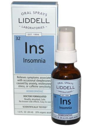 Liddell, Ins, средство от бессонницы, оральный спрей, 1 жидкая...