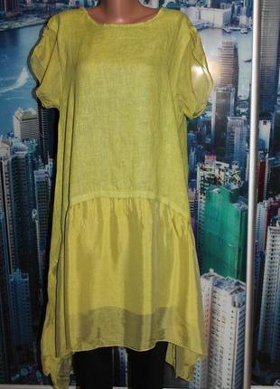 Платье 100% лен + шелк