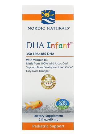Nordic Naturals, Докозагексаеновая кислота (ДГК) с витамином D...