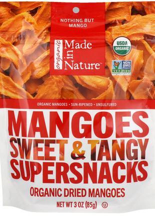 Made in Nature, Органические сушеные манго, сладкая и пряная с...