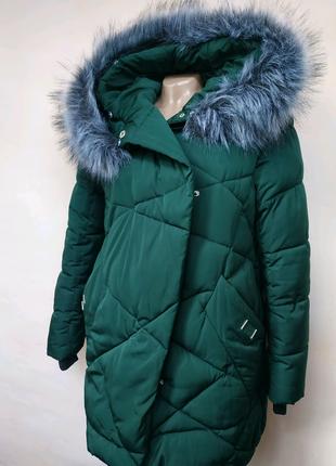 Бутылочная куртка-пуховик, зима/oversize/ для беременных