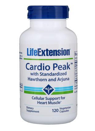 Life Extension, Cardio Peak со стандартизованными боярышником ...