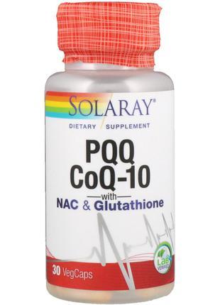 Solaray, Витамин B14 и кофермент Q10 с N-ацетилцистеином и глу...