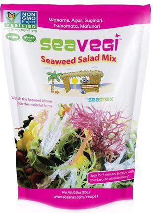 SeaSnax, SeaVegi, салатная смесь из морских водорослей, 0,9 ун...