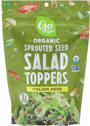Go Raw, Органические пророщенные семена для добавления в салат...