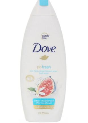 Dove, Гель для душа Go Fresh, аромат «Синий инжир и цветки апе...