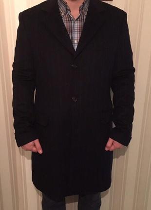Benetton италия оригинал теплое шерстяное мужское пальто новое...