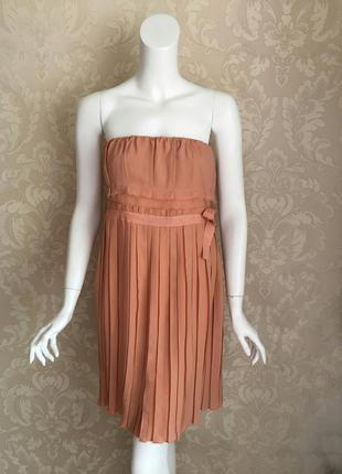 Нарядное платье персикового цвета a64 италия