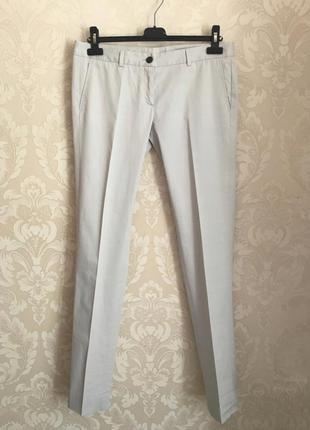 Mauro grifoni дизайнерские классические светлые серые брюки ра...