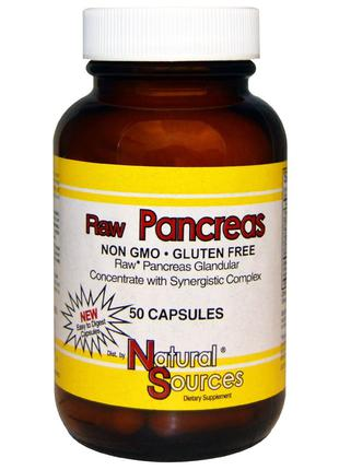 Natural Sources, Натурально Для поджелудочной железы, 50 шт., ...
