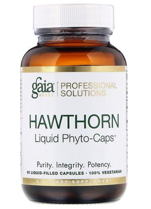 Gaia Herbs Professional Solutions, Боярышник, 60 шт. с жидкост...