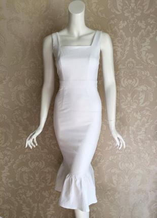 Белое нарядное платье миди украинского дизайнера must have