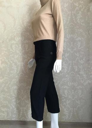 Marni оригинал италия черные шерстяные брюки кюлоты размер 38