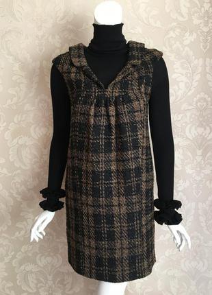Paul&joe оригинал дизайнерское твидовое теплое платье