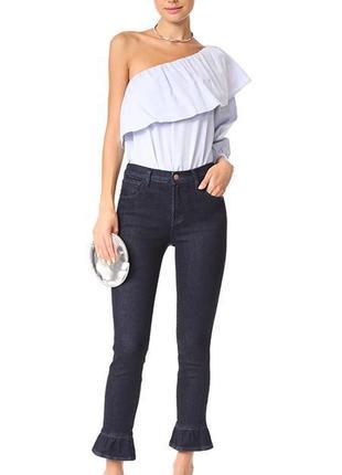 Jbrand оригинал дизайнерские темные укороченные джинсы высокая...