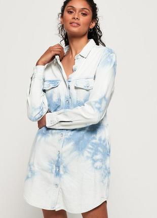 Superdry оригинал голубое джинсовое платье